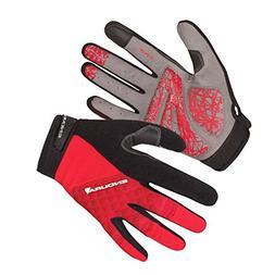 Endura Hummvee Plus Full Finger Glove Red, Medium