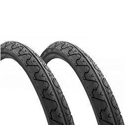 ZEERKUNG Kenda K838 City Slick Tires PAIR 26x1.95 Black Moun