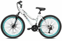 "26"" Women's Kent KZR Mountain Bike, White/Teal W"