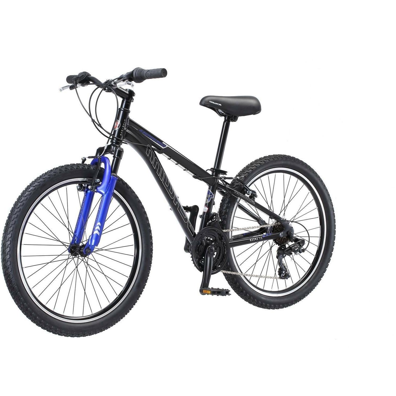 "24"" Sidewinder Mountain Black Aluminum Frame Trail Bicycle"