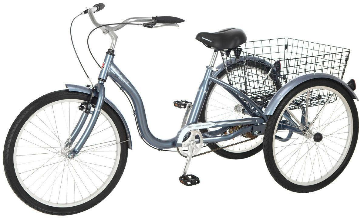 "24"" 3-Wheel Vintage Style Trike Aluminum Frame Tricycle Spri"