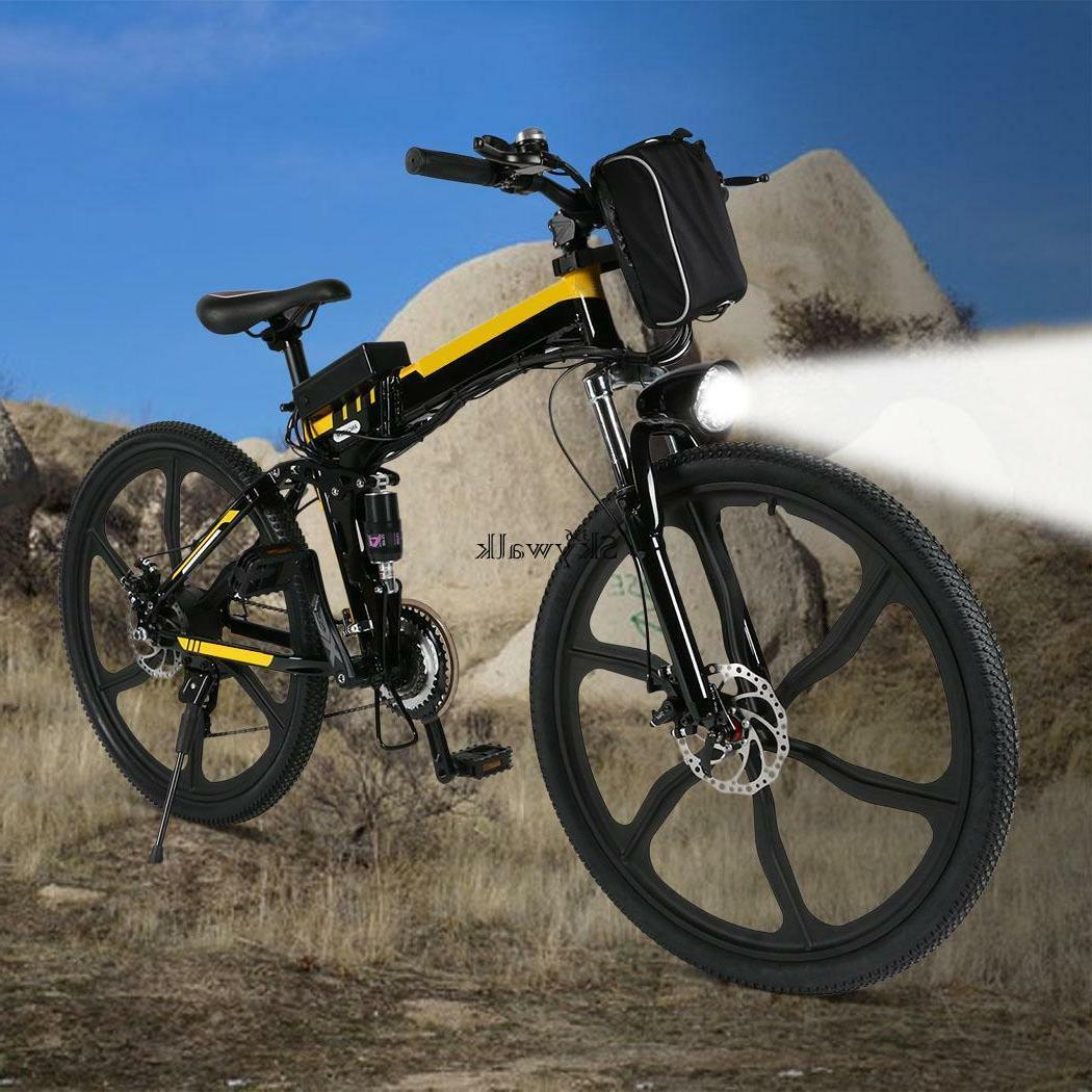 "26"" Folding Electric Bike Ebike Bicycle 36V Lithium Battery US"