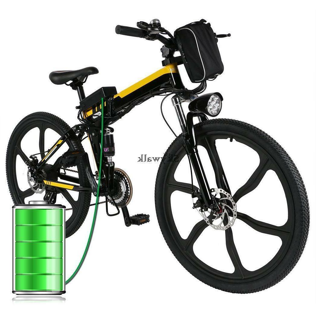 "26"" Folding Electric Mountain Bike 26 Bicycle 36V US"