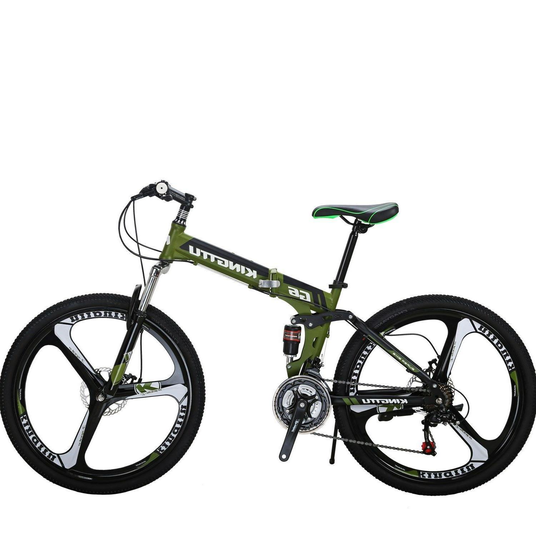 26 folding mountain bike 21 speed bicycle