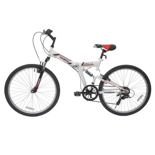 """26"""" Folding Bike 7 Suspension Fork"""