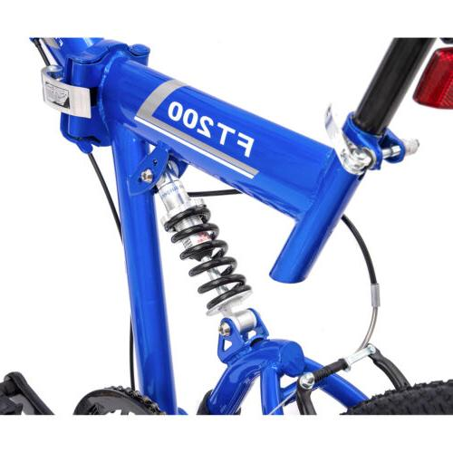 "26"" Folding 7 Bicycle Shimano Hybrid Suspension"