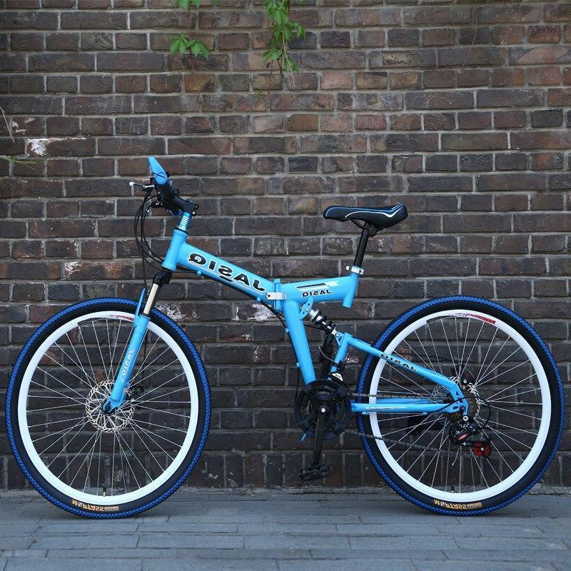 26 inch mountain 21 Folding <font><b>bicycle</b></font> bike New bike Suitable