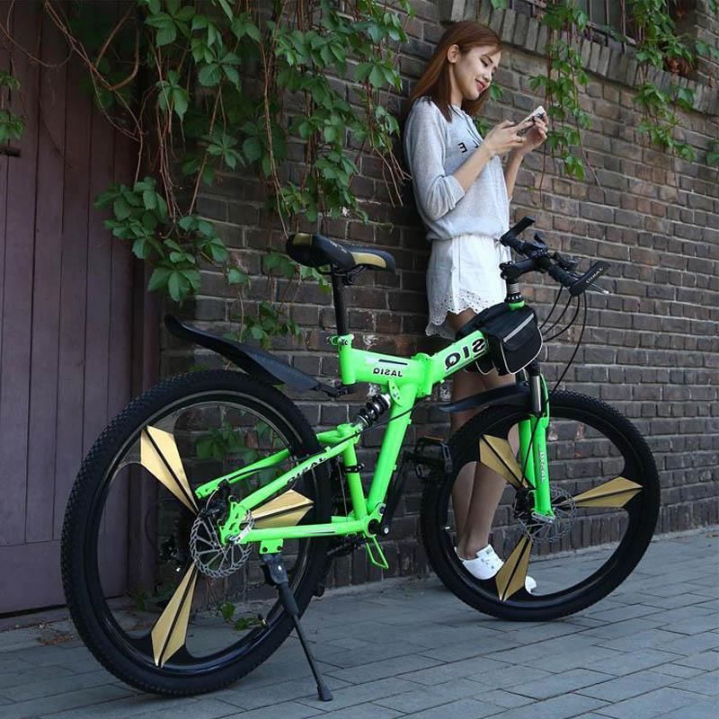 26 mountain bike 21 Folding mountain <font><b>bicycle</b></font> brake bike New mountain bike Suitable