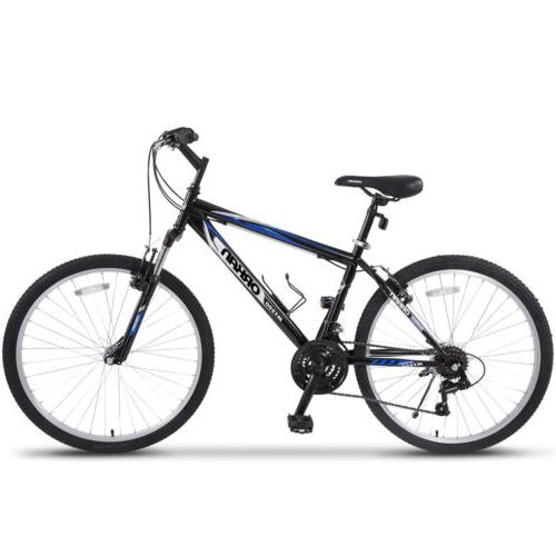 "26"" Mountain 18 Speed Bicycle Shimano Black"