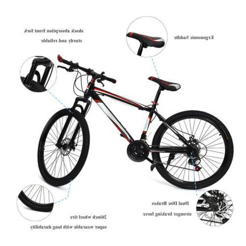 """26"""" Dual Disc Damping Speed Bicycle"""