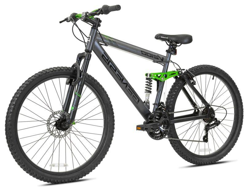 "Genesis 26"" V2100 Mens Dual Suspension Mountain Bike, Slate"