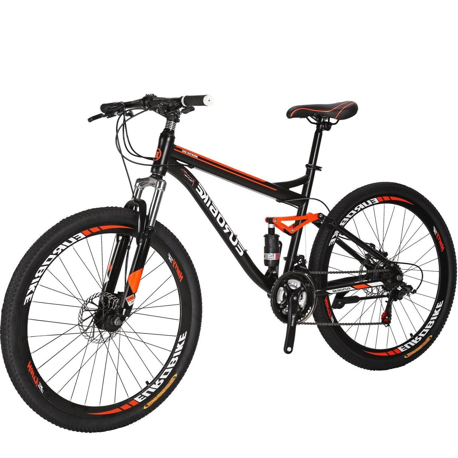 "27.5"" Full Suspension Bike 21 Speed Men's Bikes"