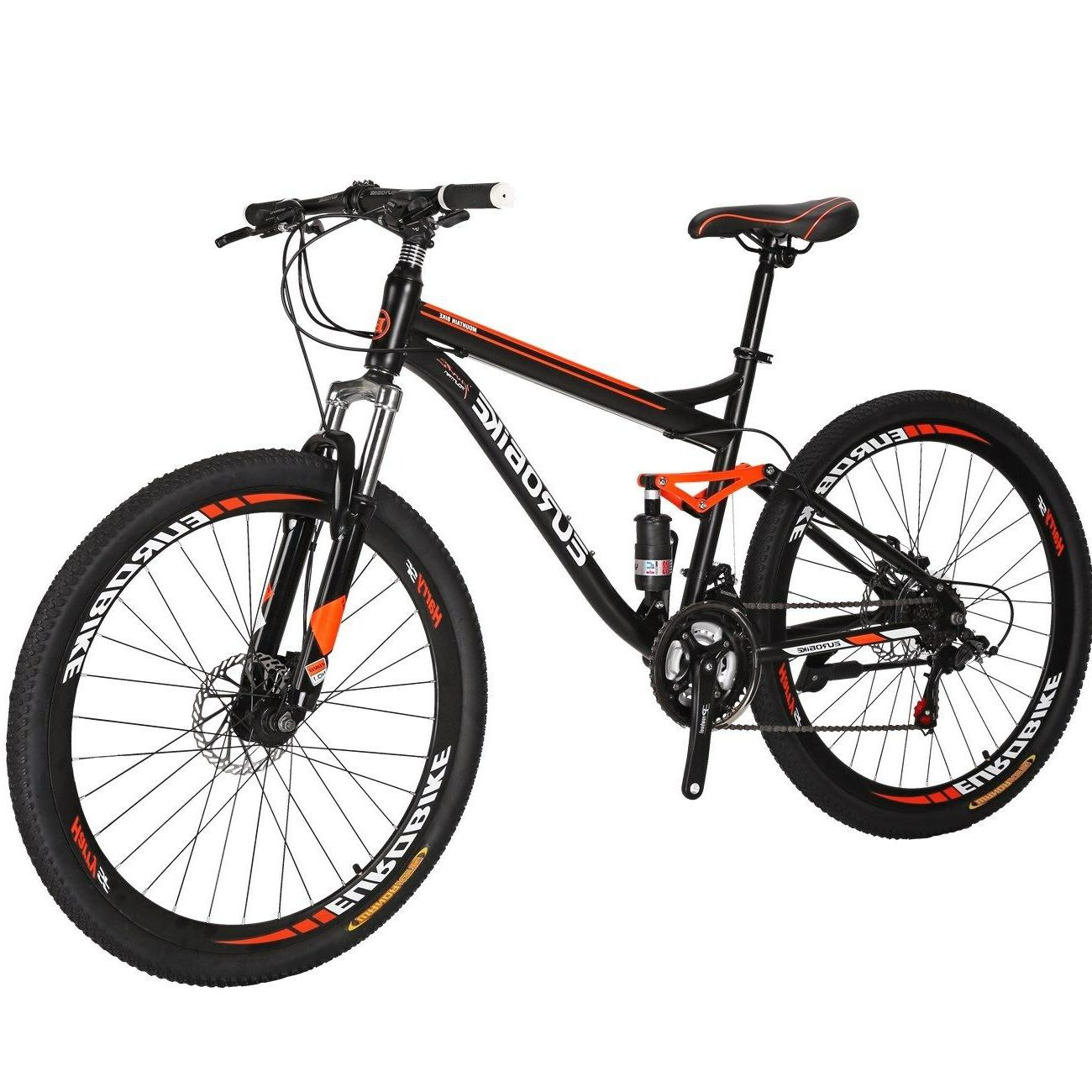 "27.5"" Suspension Bike Shimano 21 Mens Bicycle Disc MTB"