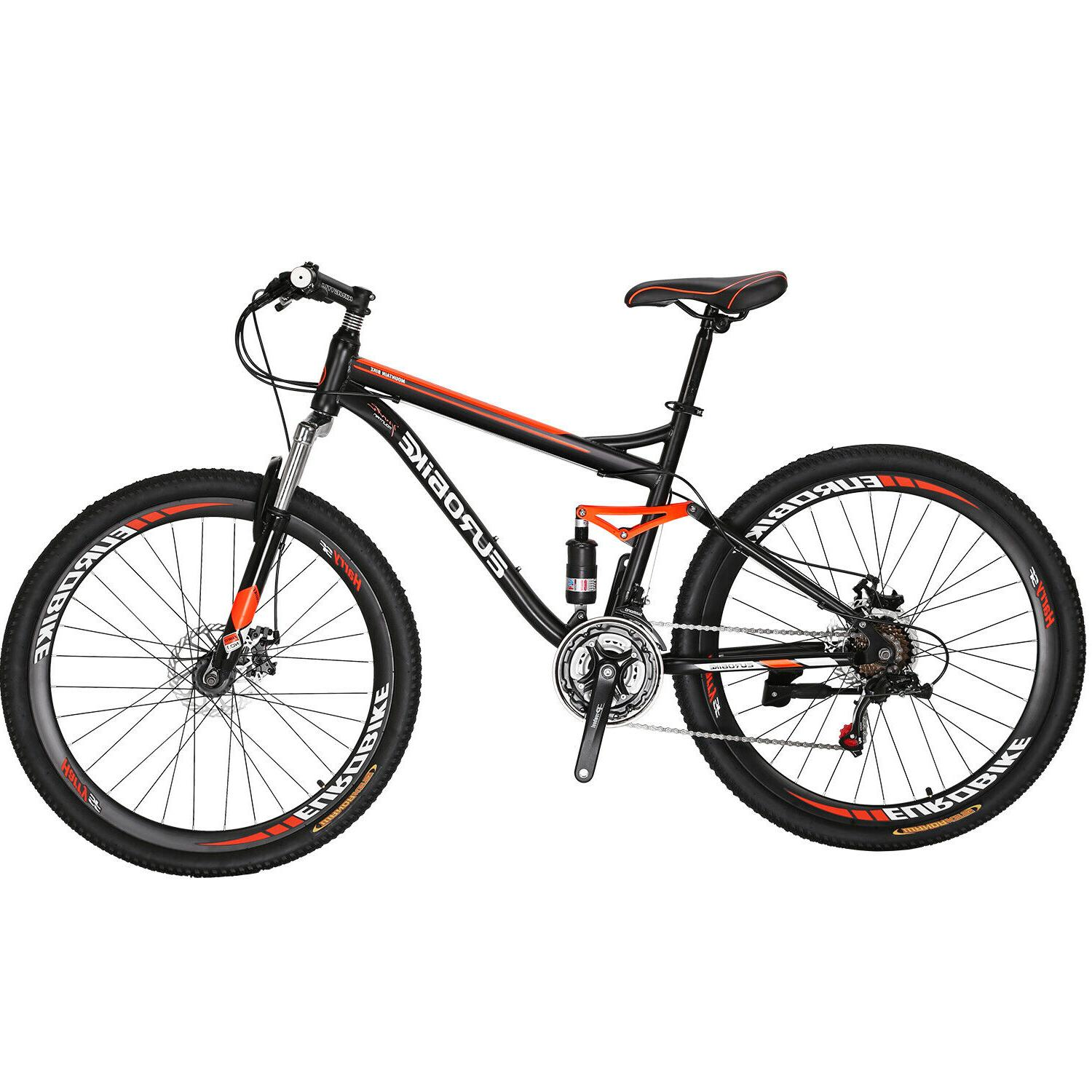 "27.5"" Full Mountain Bike Shimano 21 Mens Bikes"