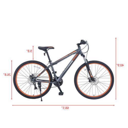 Shimano 21 Bicycle Grey Orange