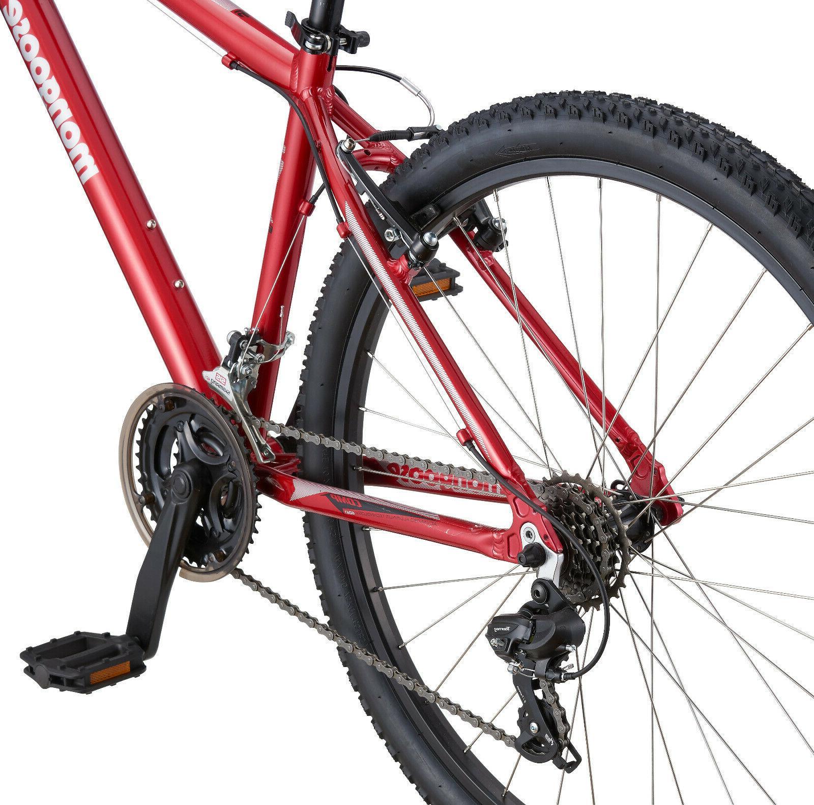 Mongoose Bike Men's Mountain Bicycle-Red