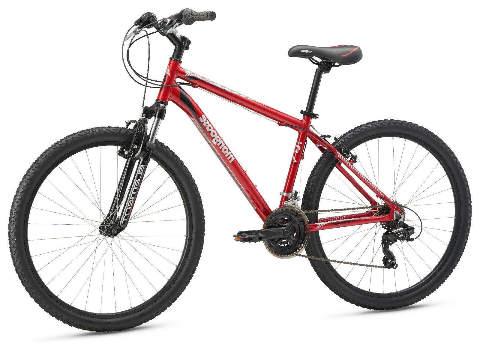 Mongoose Bike Aluminum Frame Mountain Bicycle-Red
