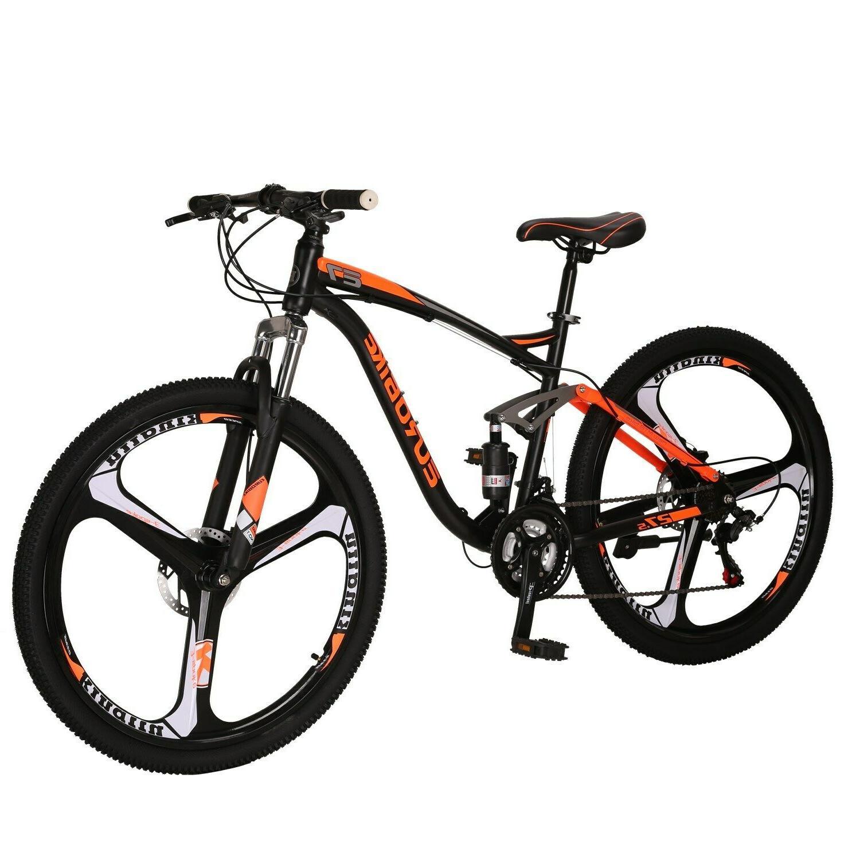 """2019 Full Mountain Bike 21 Speed Mens 27.5"""" Disc Brake mtb"""