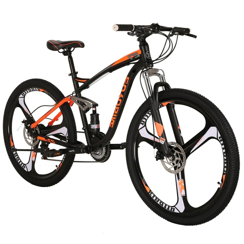 """27.5"""" Mountain Bike Suspension Shimano Disc Brake Mens Bicycle MTB"""