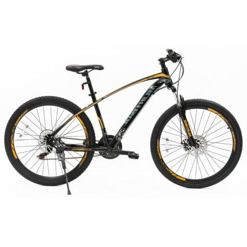 "27.5"" Yellow Black Mountain Bike Dics Brakes 21 Speeds Front"