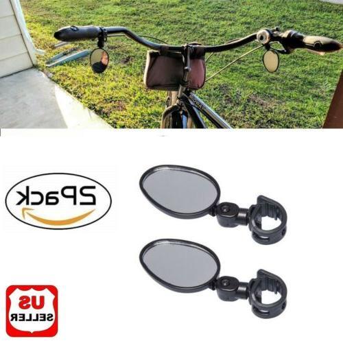 2x mountain glass mirror adjustable fits hybrid