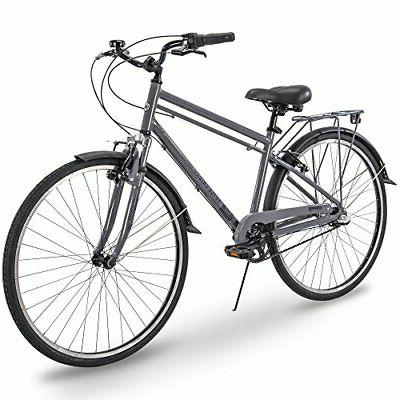 700c Union RMX Mens 3-Speed Commuter Bike, Gray