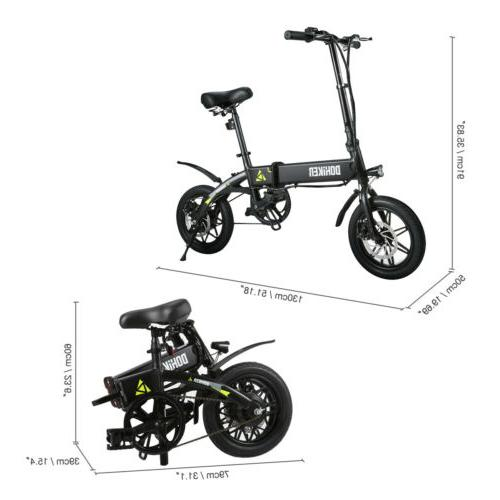 "14"" 250W Aluminum Electric Bike E-Bike Battery US"