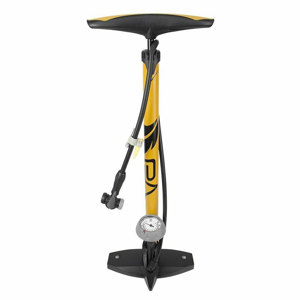Aut BV Bicycle Ergonomic Bike Floor Pump with Gauge /& Smart Valve Head 160 psi