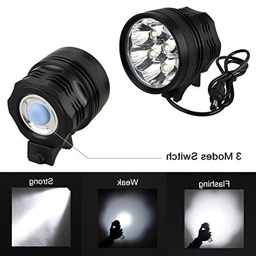 Weihao Headlight, Lumens 7 Light, 96000mAh Battery Pack,