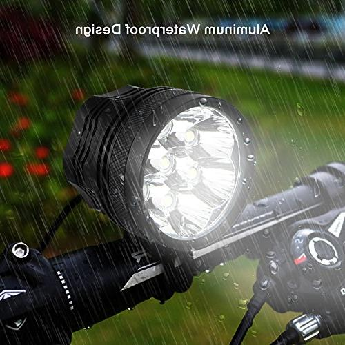 Weihao Bicycle Lumens 7 Light, Waterproof Mountain Front Light 96000mAh AC