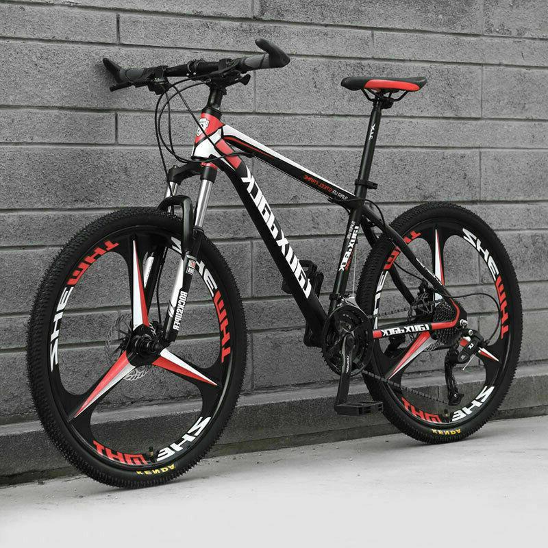 bicycle mountain bike one wheel off road
