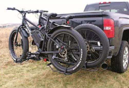 Bike Carrier Hitch 2 Tire Folding Padded SUV Steel