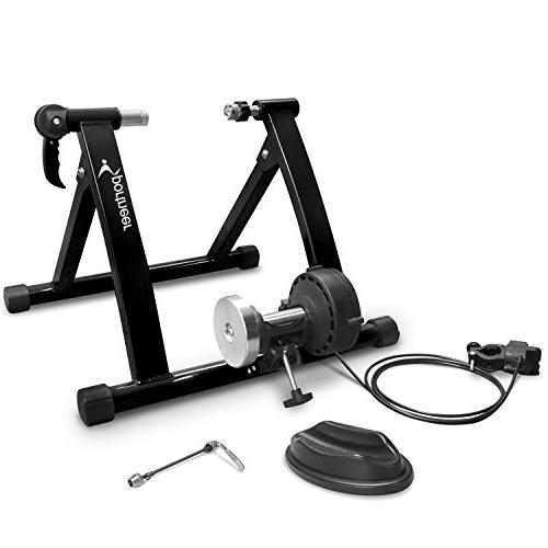 Sportneer Bike Steel Exercise Stand Wheel, Black