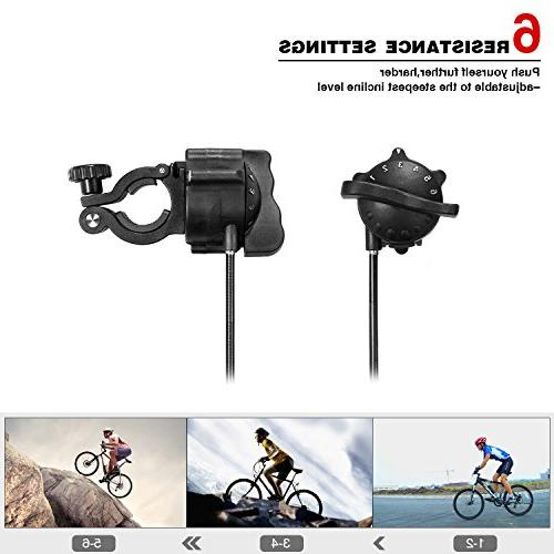 Sportneer Trainer Stand Stand with Noise Wheel, Black