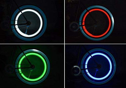 Glumes Wheel LED Light 4 Changes Bicycle Tire Lights Mountain Bike/Road Bike/Folding Bike Good Gift