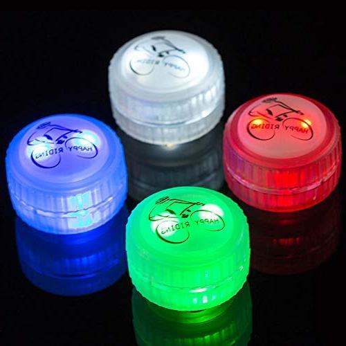 Glumes Light 4 LED 3 Changes Modes Tire for Bike/Road Bike/Hybrid