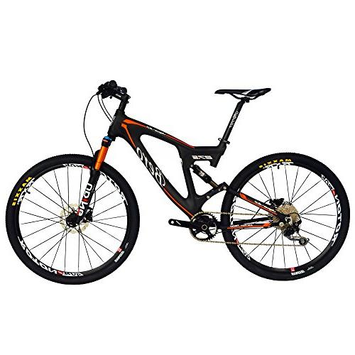 carbon dual suspension mountain bicycles
