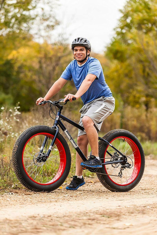 Fat Mountain 7-Speed Drivetrain & 26-Inch Wheels Red