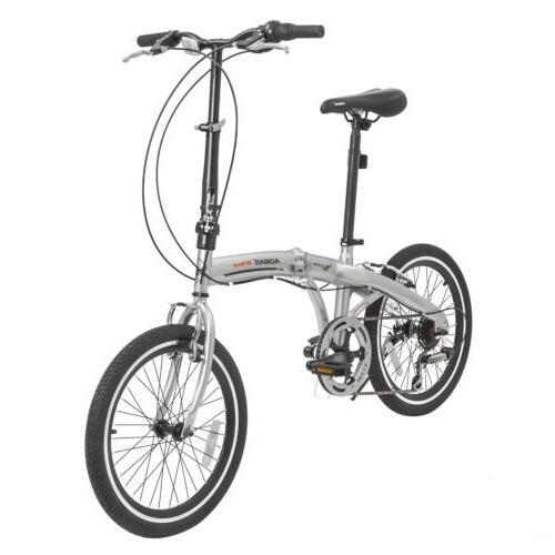 "20"" Suspension Mountain Bike Shimano 6 Speed Bicycles Silver"