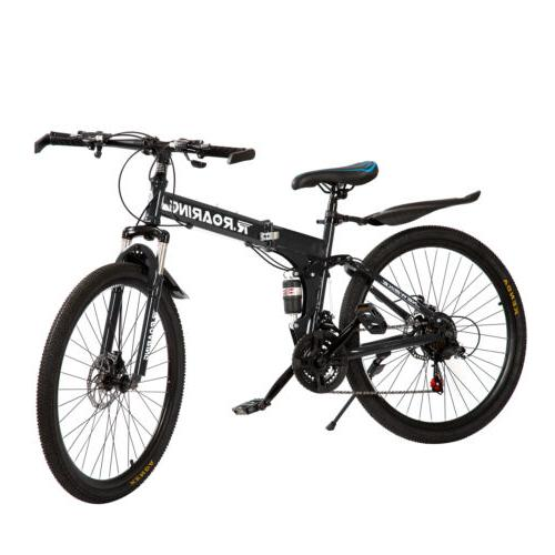 Folding Mountain Speed Bicycle Spoke Black USA