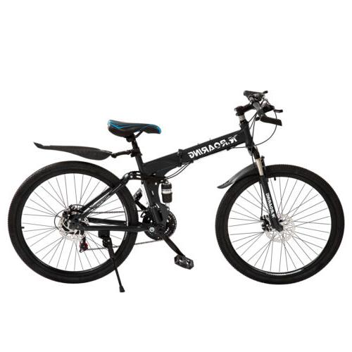 folding mountain bike 21 speed bikes 26