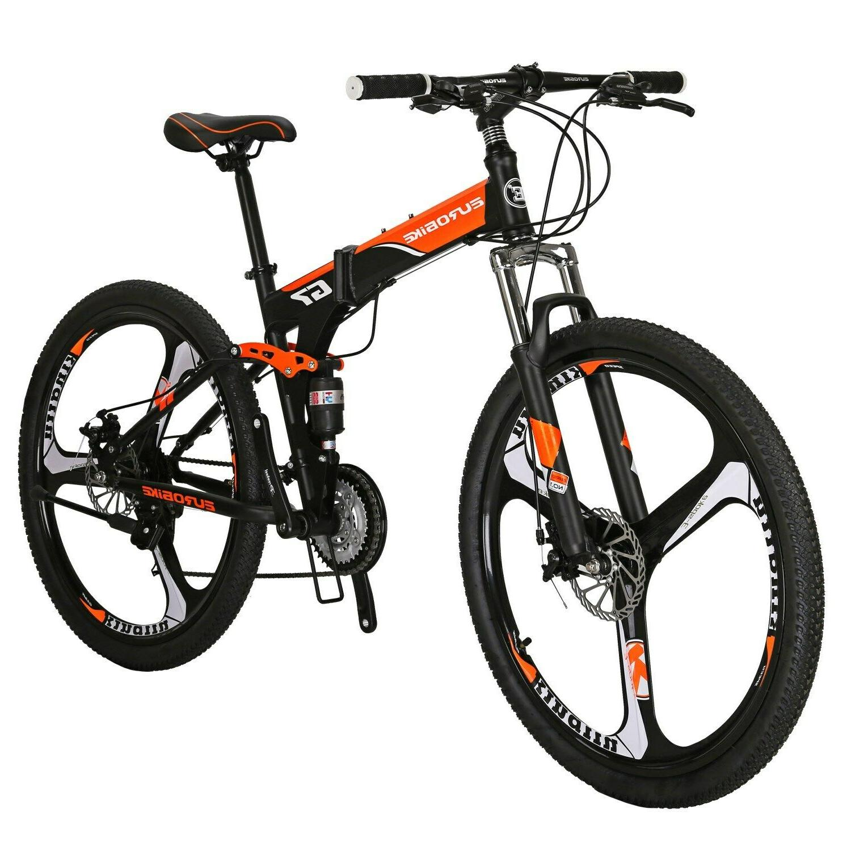 G7 Folding Mountain Bike Disc Brake 27.5 Inches Wheel Full S