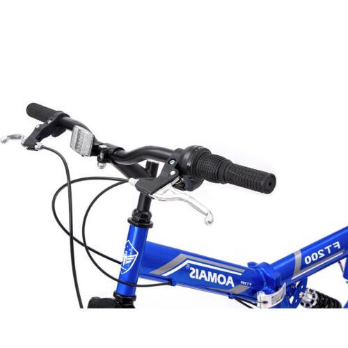 "26"" Folding Mountain Bike 7 Bicycle Hybrid Sports"
