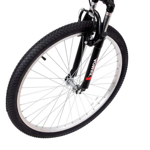 "26"" Folding Foldable Hybrid Bike 7 Speeds Full"