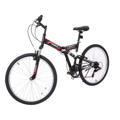 "26"" Mountain Foldable Hybrid Bike Speeds"