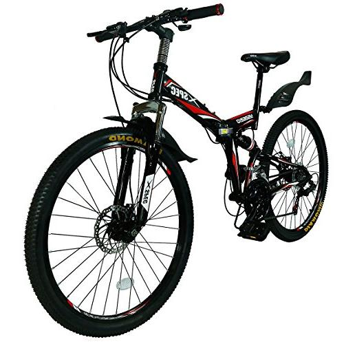 Xspec Folding Mountain Bike Trail Commuter Shimano for