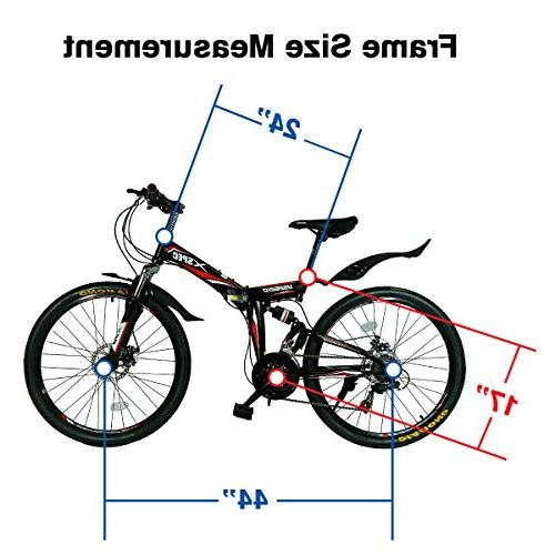 Xspec Folding Mountain Bicycle Trail Shimano for