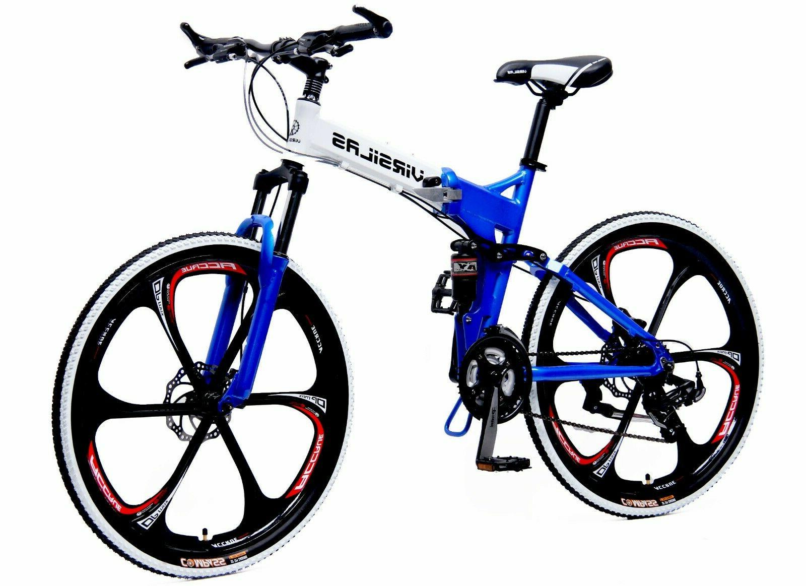 folding mountain bike mtb shimano 21 speed