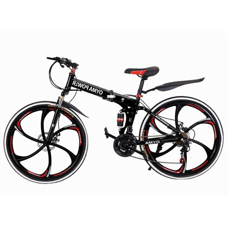 "27.5/"" Men/'s Mountain Bike Hybrid 21 Speed Suspension Shimano Bicycle Sports Red"