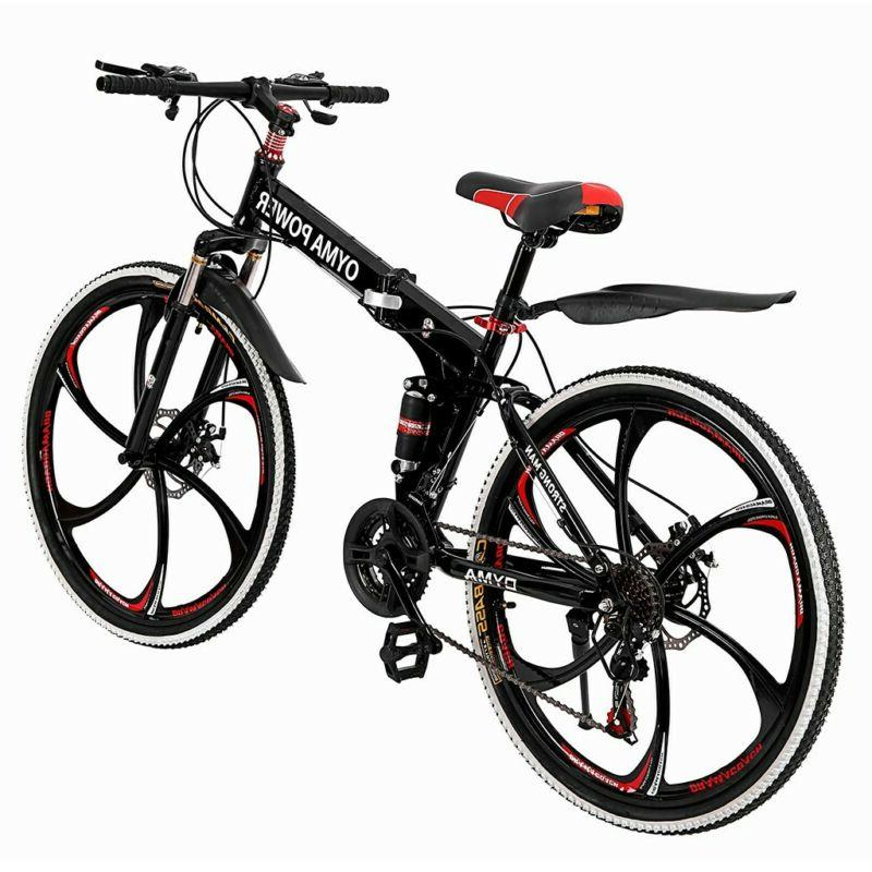 Outroad Mountain Speed Folding Bike Double Disc BLACK